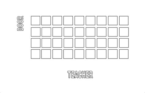 Classroom Seating Chart Template 10 Exles In Pdf Word Excel Free Premium Templates Create Seating Chart Template
