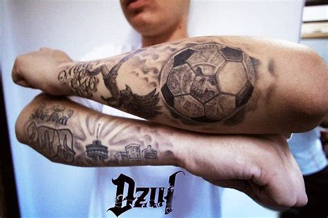 the coolest football tattoo designs for sports lovers