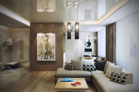 home interior living room modern design in modest proportions