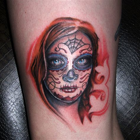 sugar face tattoo designs sugar skull tattoos photo gallery