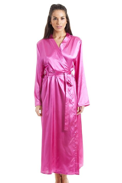 Luxury Pink womens pink luxury satin dressing gown
