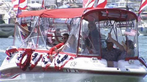 newport beach boat parade fourth of july fourth of july celebrated across southland kabc7 photos
