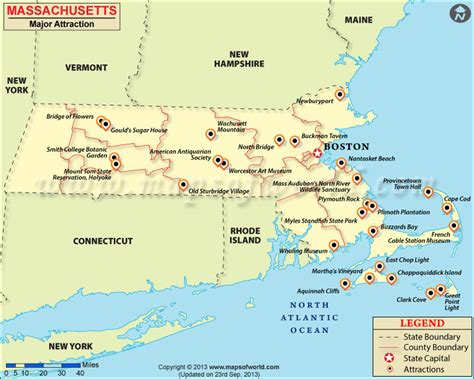 massachusetts map in usa places to visit in massachusetts map of massachusetts