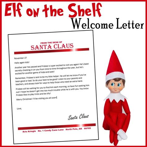On The Shelf Welcome Letter on the shelf customizable welcome letter printables