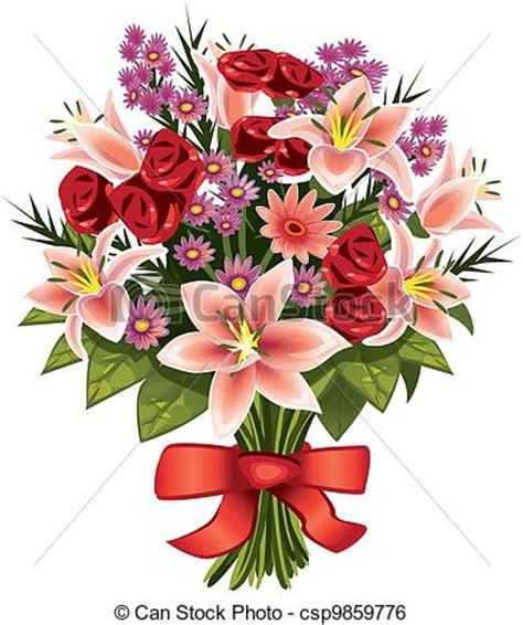 illustration de bouquet fleurs bouquet de a vari 233 t 233