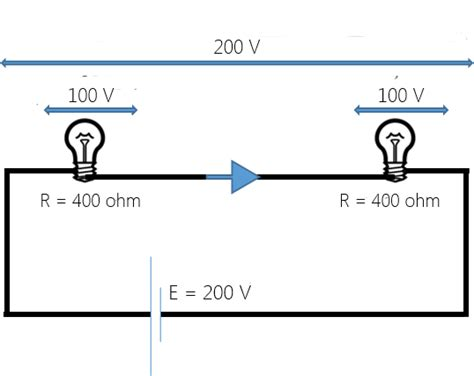 two 120 ohm resistors in parallel two 100w 200v ls are connected in series across a 200v supply the total power consumed by
