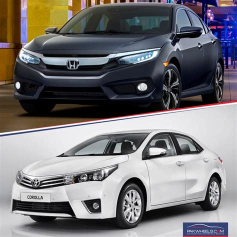 honda corolla 2015 honda civic 2016 vs toyota corolla 2015 in urdu