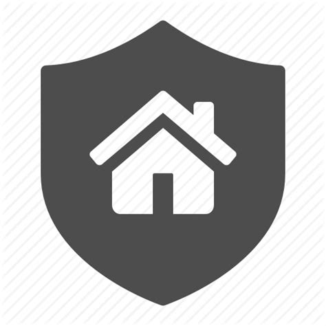 home house insurance security shield icon icon