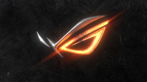 asus wallpaper orange uhd 4k asus rog hot steel logo 718