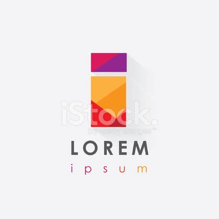 colorful letter i logo design isolated on white background