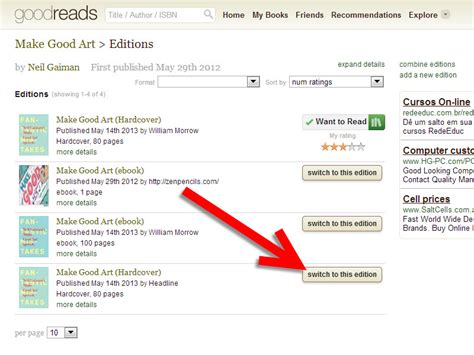 How To Search For On Goodreads How To Change The Edition Of A Book On Goodreads 9 Steps