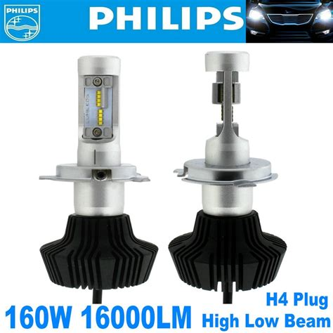 Lu Led Philips H4 2x philips led chips 160w 16000lm h4 9003 hb2 headlight