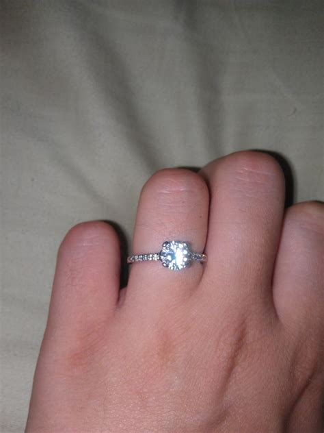 Showing Engagement Ring by Show Me Your Plain Wedding Bands