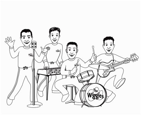 boy band coloring page wiggles coloring pages coloring pages pinterest