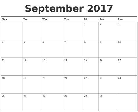 printable calendar sept oct 2017 september 2017 calendar printable
