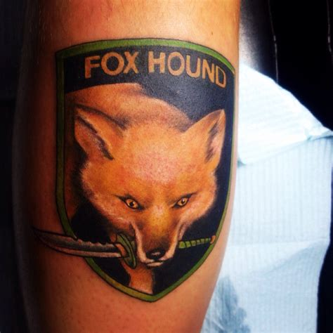 foxhound tattoo my foxhound unit symbol metal gear solid by jr linton