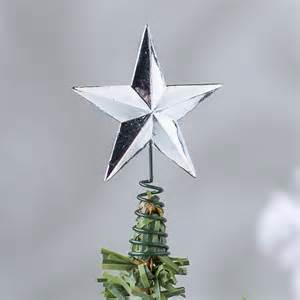 small silver star tree topper christmas miniatures