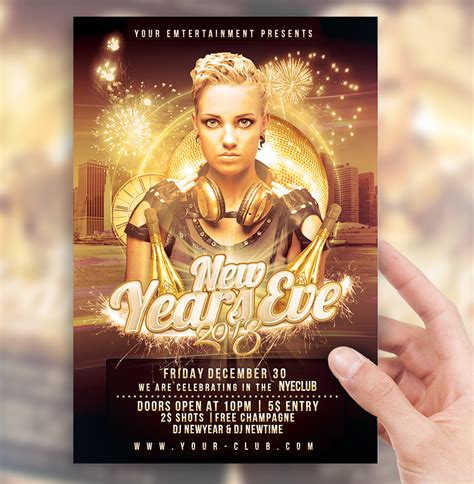 new years eve party flyer template by sorengfx on deviantart