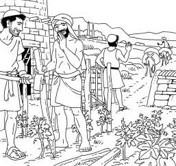The Tenants Coloring Page 1 Parable Of 2 sketch template