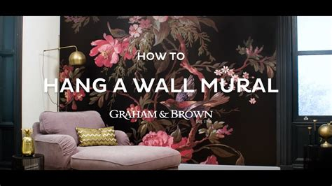 how to hang a wall mural how to hang a wall mural graham brown