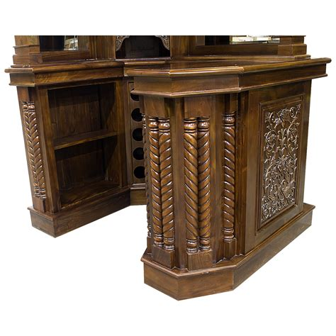 solid mahogany corner home bar furniture with