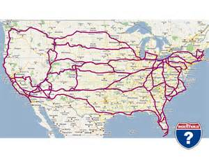 road map usa travel