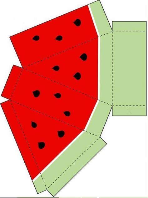 watermelon template caixinha fatia melancia coisas para usar