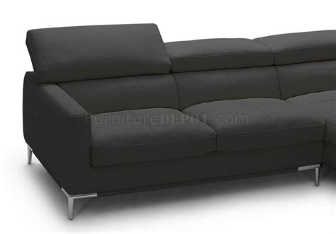 full leather sectional sofa 1281b sectional sofa in black full leather by j m