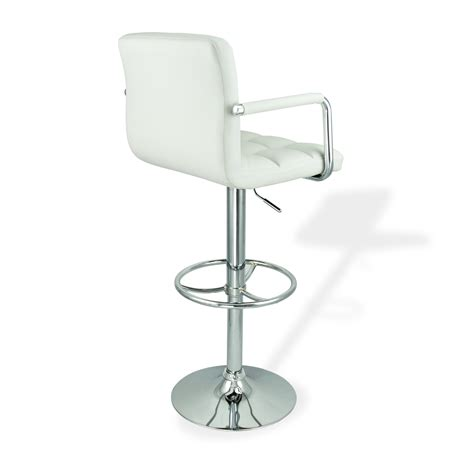 white leather swivel bar stools 4 swivel bar stool white w arm pu leather modern