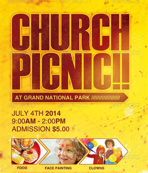 church picnic flyer templates church picnic flyer template by loswl on deviantart