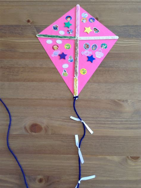How To Make A Paper Kite For Preschoolers - k is for kite craft preschool craft letter of the week