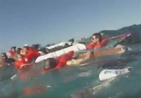 catamaran capsizes and sinks with tourists on board terrifying video catamaran ship capsizes killing three