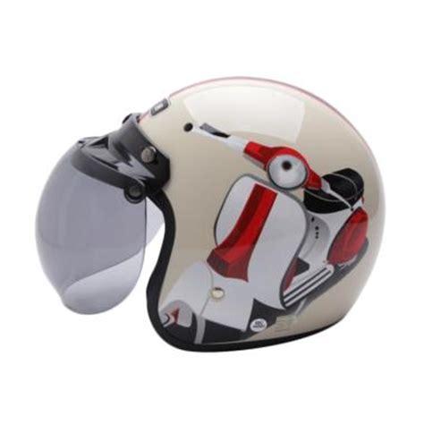 Helm Wto Retro Bogo jual wto helmet retro bogo vespa helm half krem harga kualitas terjamin