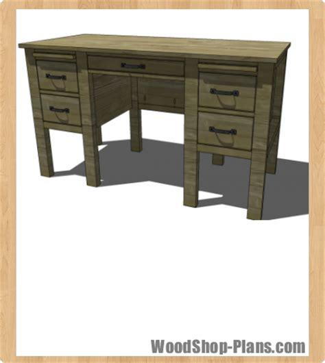 desk woodworking plans woodshop plans