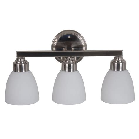 lowes bathroom lighting brushed nickel catalina lighting 3 light harbour brushed nickel bathroom