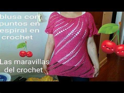 blusa en crochet ganchillo en punto relieve espiral mejores 7873 im 225 genes de crochet videos en pinterest
