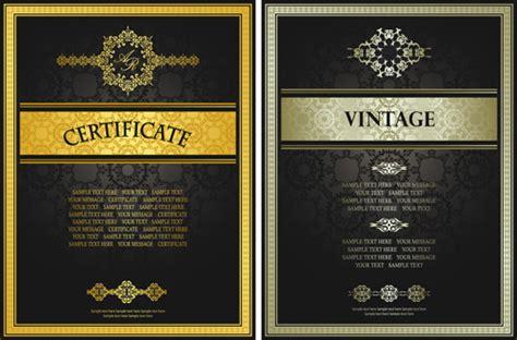 certificate design golden golden template certificate design vector 03 vector