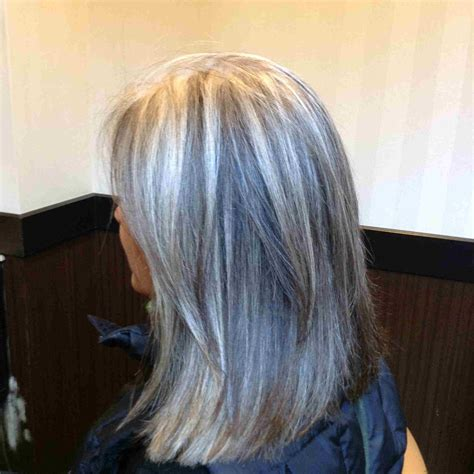 platinum highlights for graying brunette hair going grey rubann nyc going grey is beautiful