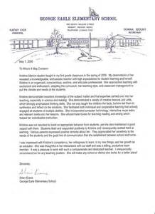 elementary student recommendation letter examples letter