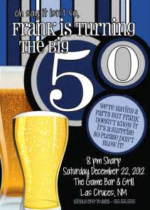 50th birthday surprise party invitations beer by thefunkyolive