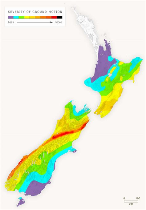 earthquake zones nz new zealand regions at greatest risk of ground shaking