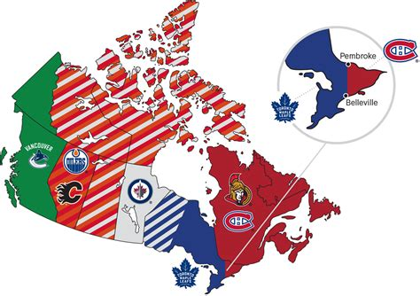 nhl map map of canadian hockey teams locations pictures to pin on pinsdaddy