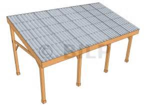 la toiture monopente guide de construction des carport