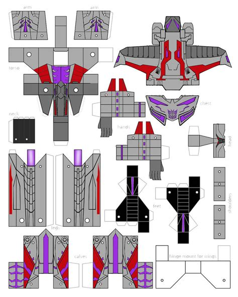 Transformer Papercraft - paper crafts transformer animated