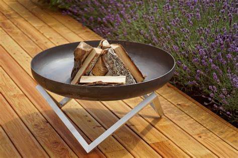 feuerschale outdoor modern outdoor patio rust stainless steel pit memel