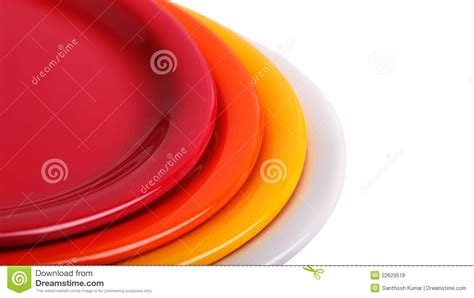 colorful plates colorful plates stacked for display royalty free stock