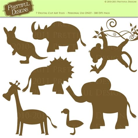 printable jungle animal silhouettes jungle animal silhouette clipart clipart suggest
