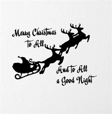 Red And Blue Childrens Bedroom - merry christmas to all and to all a good night christmas wall quotes words decals lettering