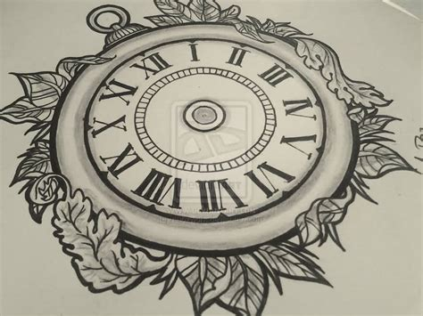 clock tattoo design clock design jpg 1024 215 768 warranty