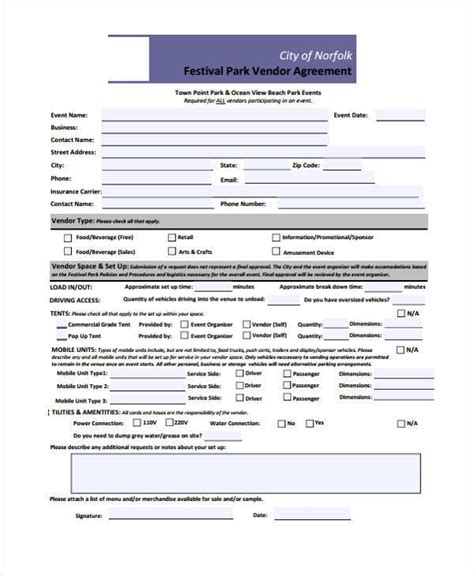 event vendor contract template vendor contract agreement sle vendor contract